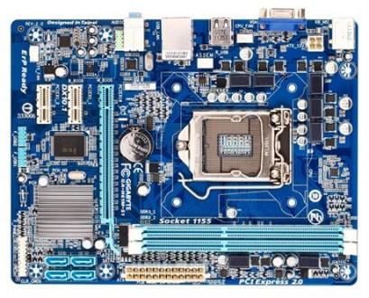 М/В iH61 GigaByte GA-H61M-S1 mATX bulk LGA 1155, исправна, проблема со звуком. Киев. фото 1