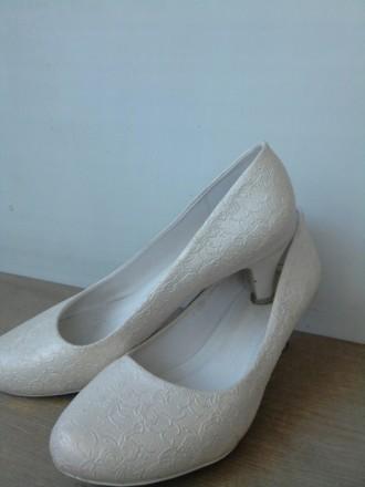 свадебные туфли кожа. Снятин. фото 1
