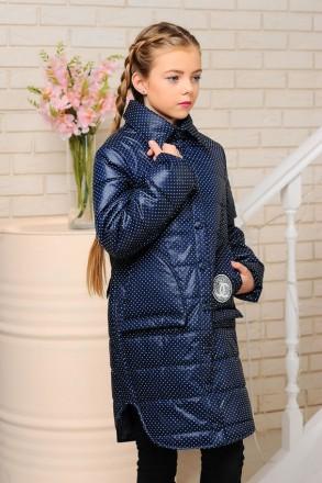 Деми куртка-пальто для девочек 128-152р. Энергодар. фото 1