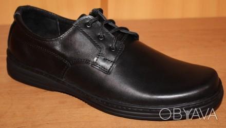 c1567ad39 Мужские кожаные туфли черные на шнурках от производителя модель АМТ150