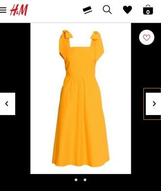 Платье НМ желтое, лиосель + хлопок. Бердянск. фото 1