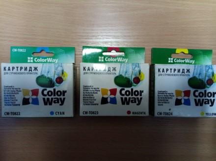 Картриджи Epson T082 (новые) для T50/T59/R270/R290/R390/RX610/TX650. Киев. фото 1