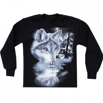 Толстовка Волк (картинка светится в темноте) 7-12 лет. Новый Буг. фото 1