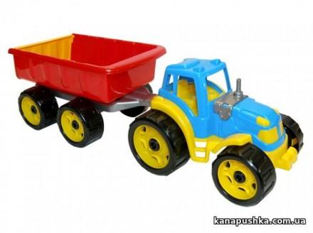 Трактор с прицепом стройтехника. Чернигов. фото 1