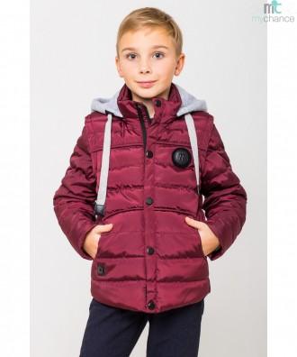 Деми куртка-жилетка для мальчика 122-164р. Энергодар. фото 1