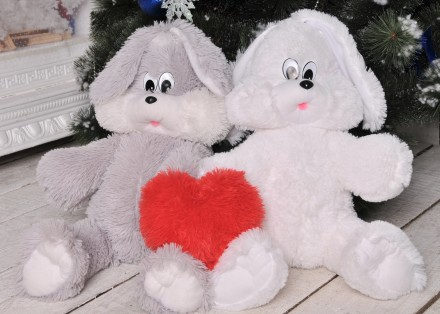 Мягкая игрушка зайчик Снежок плюшевый заяц. Мелитополь. фото 1