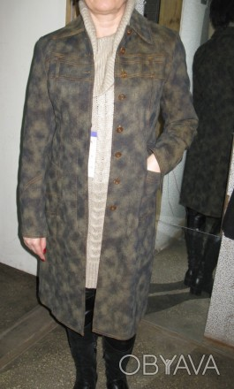 новий джинсовий плащик з дуже теплою підкладкою з байки, прикрашений хутром норк. Черкассы, Черкасская область. фото 1