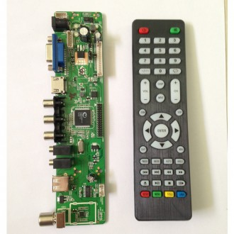 V56 контроллер LCD матрицы ТВ VGA HDMI USB скалер LVDS кабель (V59). Одесса. фото 1