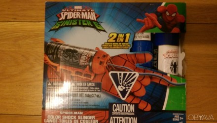 Рука спайдермена слизь марвел Marvel Spider-Man Shock Slinger. Киев. фото 1