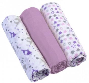 Муслиновые пеленки для новорожденных 3шт 70х70. Днепр. фото 1