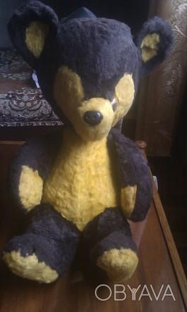 Настоящий редкий раритет - мягкая игрушка 60-ых годов. Высота - 50 см, в сидяче. Мелитополь, Запорожская область. фото 1