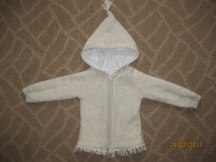 Пальто вязаное на девочку 12-18 мес.. Киев. фото 1