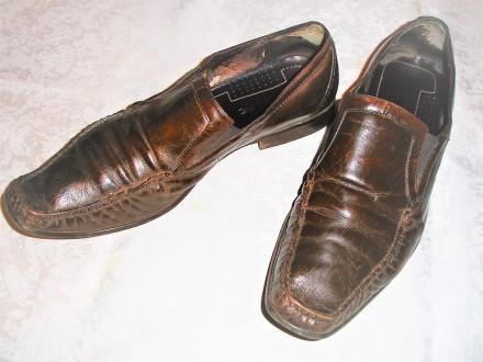 Туфли/туфлі 43 р. шкіряні, темно-коричневі, EGLE. Львов. фото 1
