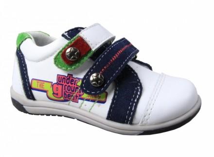 Кожаные кроссовки для мальчика B&G. Сумы. фото 1