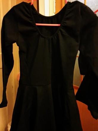 Новый!!! Гимнастический купальник с юбкой. Ткань указано: вискоза, но это хлопо. Киев, Киевская область. фото 4