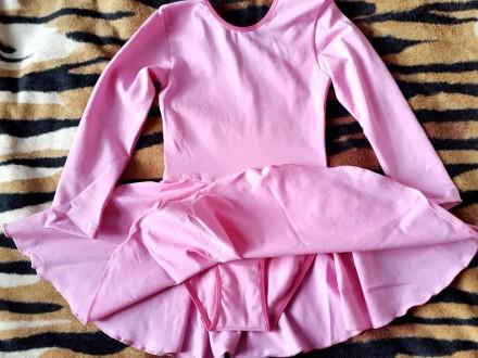 Новый!!! Гимнастический купальник с юбкой. Ткань указано: вискоза, но это хлопо. Киев, Киевская область. фото 9