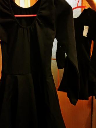 Новый!!! Гимнастический купальник с юбкой. Ткань указано: вискоза, но это хлопо. Киев, Киевская область. фото 3