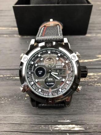 Мужские наручные часы AMST Stitching Black.. Калуш. фото 1