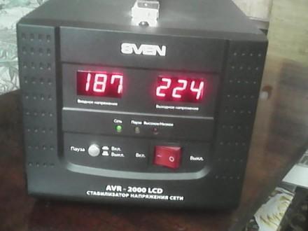 Стабилизатор напряжения сети SVEN AVR 2000 LCD. Купянск. фото 1