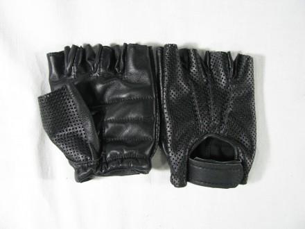 Перчатки кожаные беспалые. Запорожье. фото 1