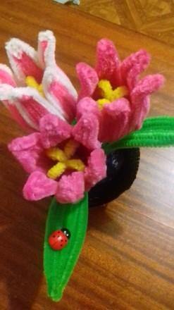 Продам или изготовлю на заказ декоративные тюльпаны из синельной проволки. Выгля. Черкассы, Черкасская область. фото 2