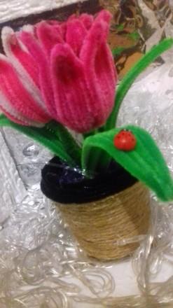 Продам или изготовлю на заказ декоративные тюльпаны из синельной проволки. Выгля. Черкассы, Черкасская область. фото 5