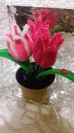 Продам или изготовлю на заказ декоративные тюльпаны из синельной проволки. Выгля. Черкассы, Черкасская область. фото 7