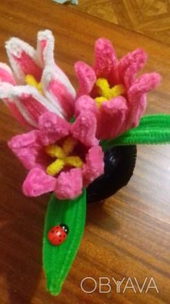 Продам или изготовлю на заказ декоративные тюльпаны из синельной проволки. Выгля. Черкассы, Черкасская область. фото 1