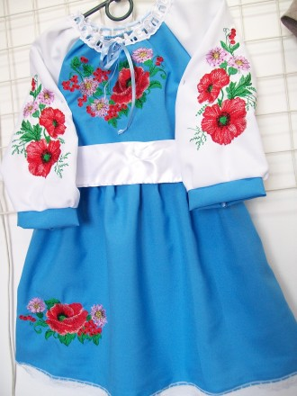 Платье-вышиванка на 5-6 лет. Житомир. фото 1