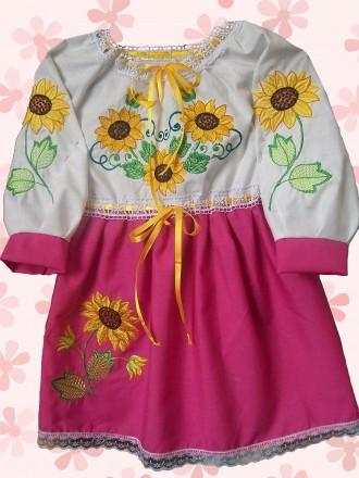Платье-вышиванка на 2-4 года. Житомир. фото 1