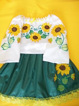 Платье-вышиванка на 2-3 года. Житомир. фото 1