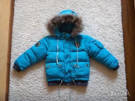 Комплект для хлопчика - тепла зимова куртка + штани-комбінезон.  Практично в і. Прилуки, Черниговская область. фото 1