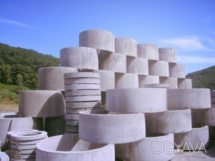 Предлагаем вам бетонные кольца,крышки,днища для колодца,сливных ям,септиков.Такж. Кривой Рог, Днепропетровская область. фото 1