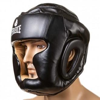 Шлем боксерский  Тип: боевой, full face Материал: flex, экокожа Цвет: черный,. Одесса, Одесская область. фото 3