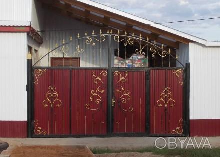 Кованые ворота в Кривой Рог,заказать ворота