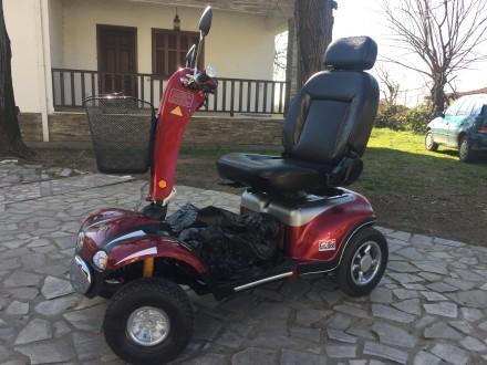 Электрический скутер для пожилых людей, инвалидов отличное состояние минимальный. Киев, Киевская область. фото 3