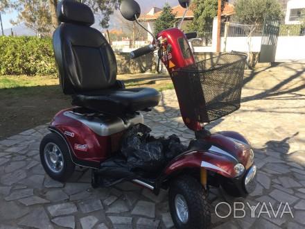 Электрический скутер для пожилых людей, инвалидов отличное состояние минимальный. Киев, Киевская область. фото 1