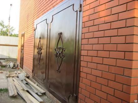 Ворота гаражные,сварные,железные,распашные. Кривой Рог. фото 1