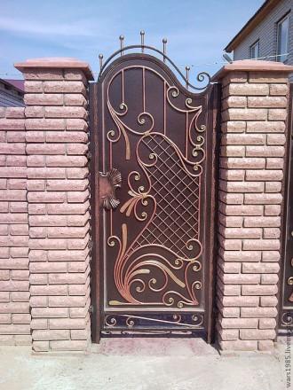 Калитки кованые,ворота с калиткой. Кривой Рог. фото 1