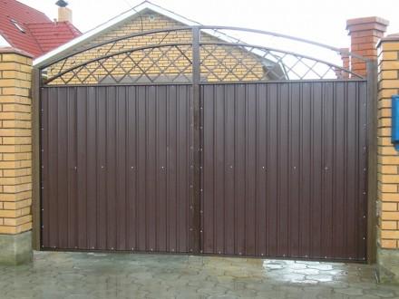 Ворота въездные,распашные,фото,цена. Кривой Рог. фото 1