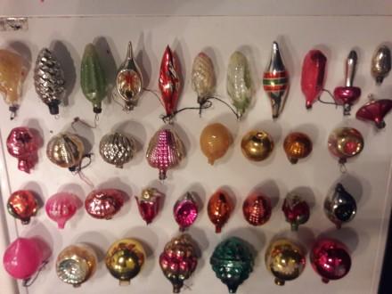 Ялинкові іграшки (СРСР) , 36 шт., 3 шт. зі сколами.. Киев, Киевская область. фото 4