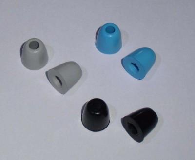 Пенные насадки (амбушюры) среднего размера новые синий черный серый. Кременчуг. фото 1
