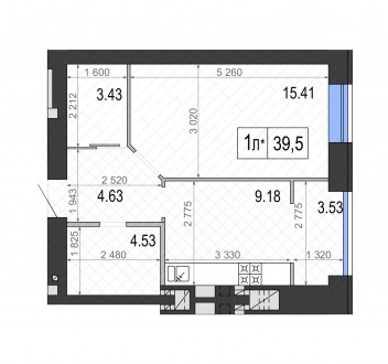 Квартира с гардеробной по ул. Пушкинская! Есть вариант планировки с гардеробом . Ирпень, Киевская область. фото 3