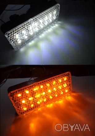 LED (светодиодные) вставки в подфарник (габарит+поворот) для ВАЗ-2103 / ВАЗ-2106. Харьков, Харьковская область. фото 1