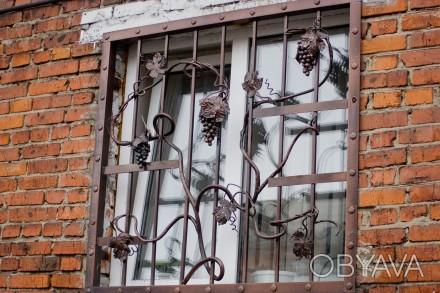 Наше предприятие изготовит любые решетки на окно под ваш размер.Выезд мастера на. Кривой Рог, Днепропетровская область. фото 1