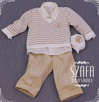 Нарядный и строгий костюм для мальчика на первый день рождения Krasnal. Чаплинка. фото 1