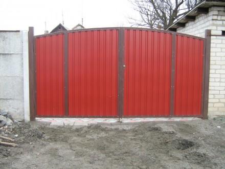 Изготавливаем, доставляем и устанавливаем распашные ворота, под заказ по индивид. Кривой Рог, Днепропетровская область. фото 2