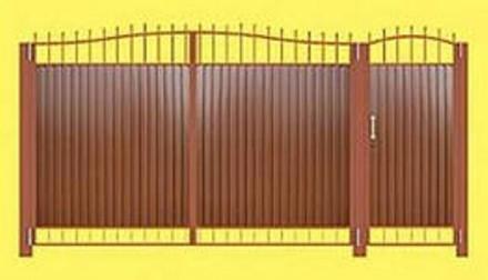 Изготавливаем, доставляем и устанавливаем распашные ворота, под заказ по индивид. Кривой Рог, Днепропетровская область. фото 4