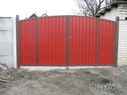 Изготавливаем, доставляем и устанавливаем распашные ворота, под заказ по индивид. Кривой Рог, Днепропетровская область. фото 1