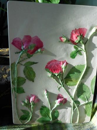 Картина (панно) Розовые розы. Полтава. фото 1